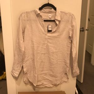 Gap 100% linen popover tunic small